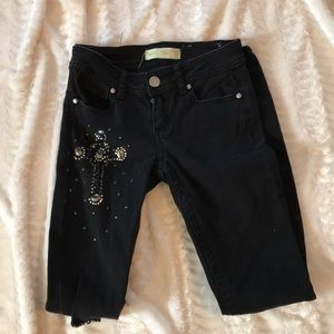 🆒 Punk Almost Famous Jr 3 Distressed Bling Jean